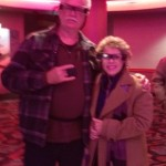 Paul and Kathy Hopkins at Regal Cinema using the Sony Entertainment Access Glasses.